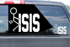 Fuck Isis Sticker Vinyl Die Cut Decal
