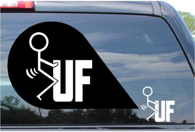 Fuck UF Sticker Vinyl Die Cut Decal