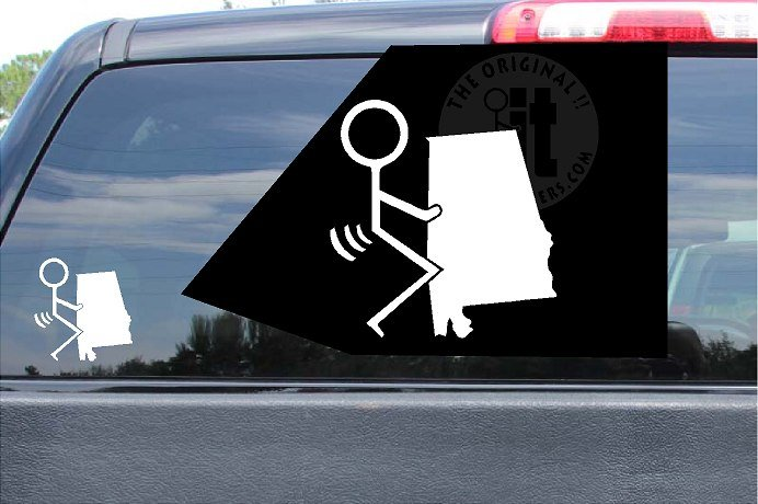 Fuck Alabama Sticker AL Vinyl Die Cut Decals