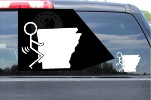 Fuck Arkansas Sticker AK Vinyl Die Cut Decals