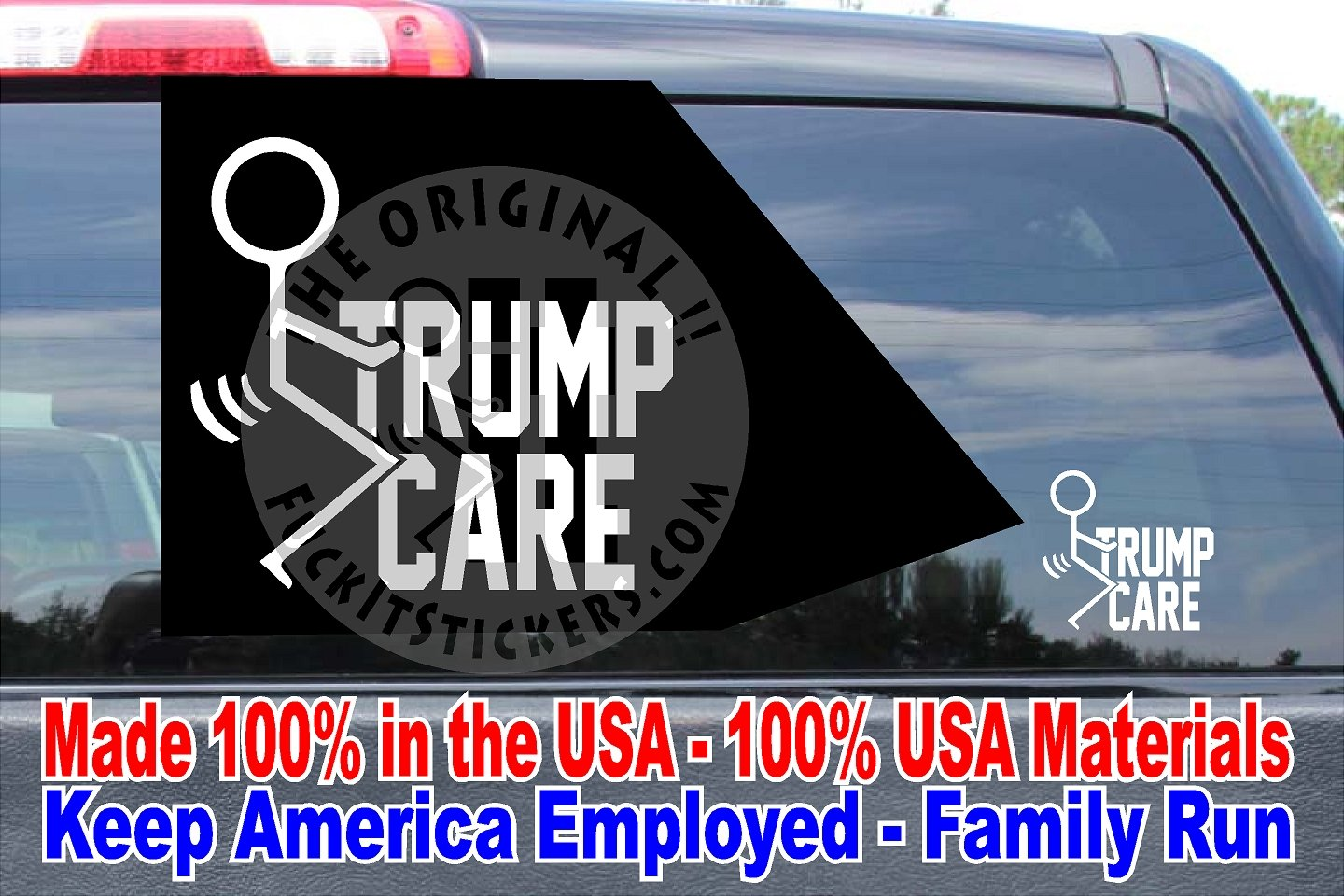 Fuck Trump Care Vinyl Decal Die Cut Sticker